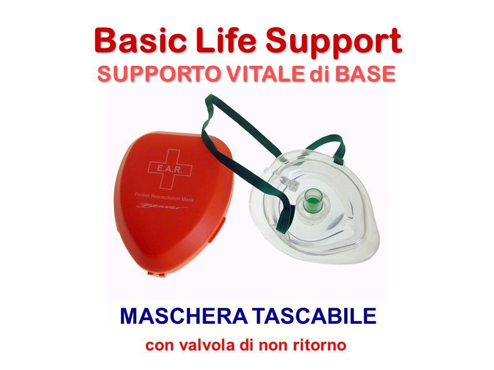 Basic Life Support SUPPORTO VITALE di BASE MASCHERA TASCABILE con valvola di non ritorno