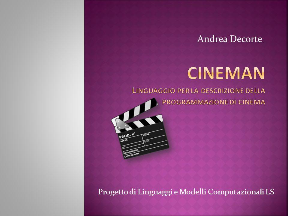 Progetto di Linguaggi e Modelli Computazionali LS Andrea Decorte