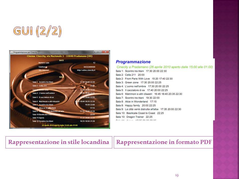 Rappresentazione in stile locandina 19 Rappresentazione in formato PDF