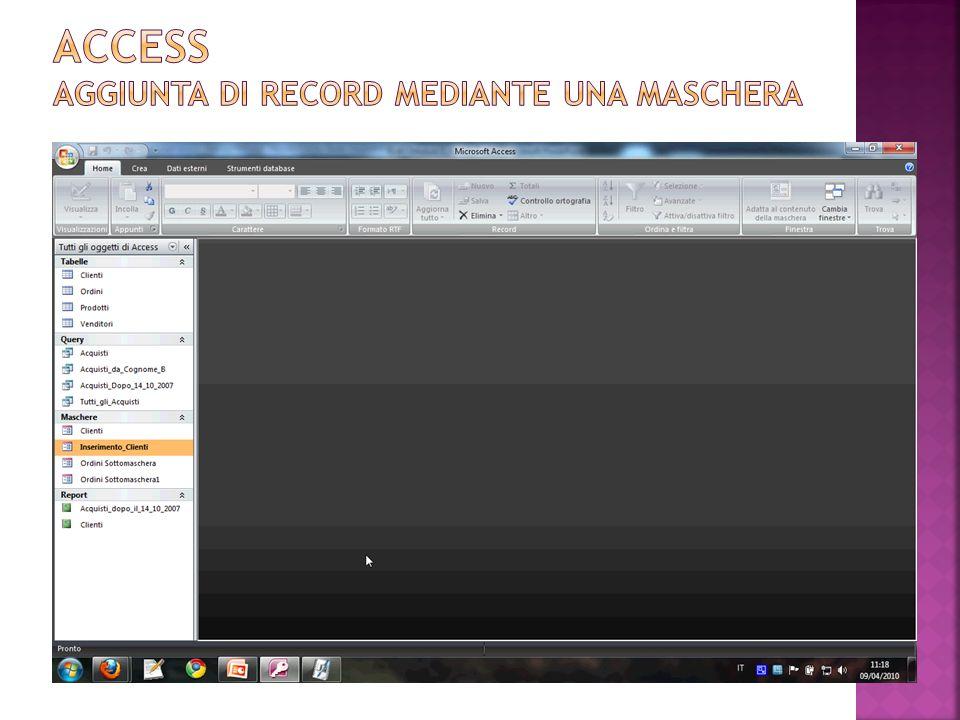 Quando una maschera visualizza i record di una tabella o di una query il cui recordset è modificabile, allora la modifica dei dati di un campo della maschera si ripercuote sulla tabella o sul recordset della query sottostante.