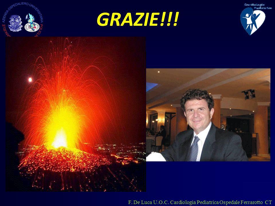F. De Luca U.O.C. Cardiologia Pediatrica Ospedale Ferrarotto CT GRAZIE!!!