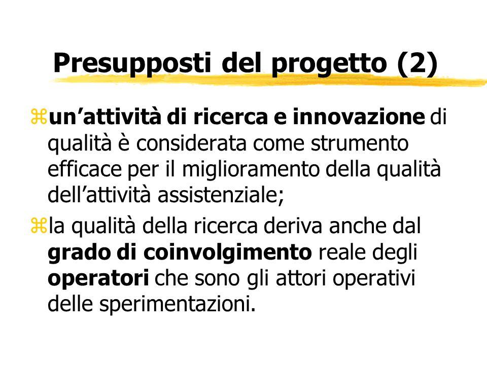 Obiettivi del Progetto zValutare il grado di coinvolgimento e di interesse in materia di ricerca degli operatori sanitari dellAzienda U.s.l.
