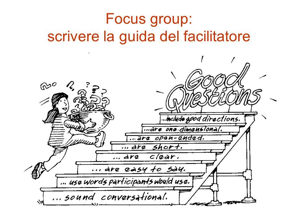 Focus group: scrivere la guida del facilitatore