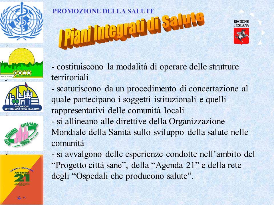Nicola Comodo – Dipartimento Sanità Pubblica – Università degli Studi di Firenze - costituiscono la modalità di operare delle strutture territoriali -