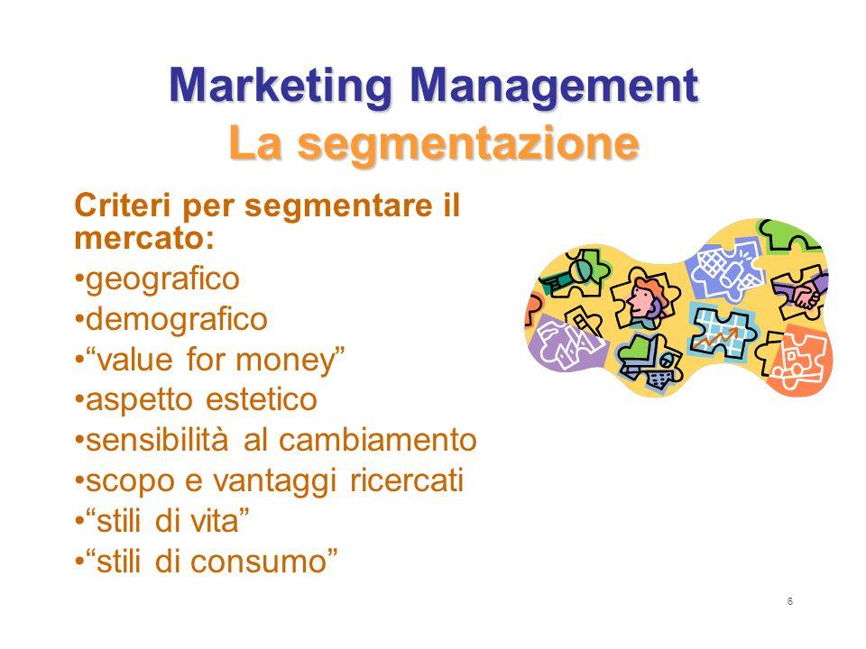 27 Marketing Management Il Marketing Mix La Promozione I disturbi: rumori dispersioni