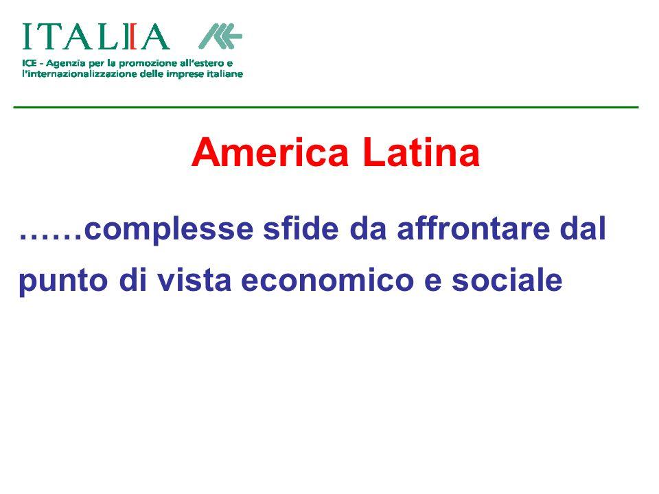 America Latina ……complesse sfide da affrontare dal punto di vista economico e sociale