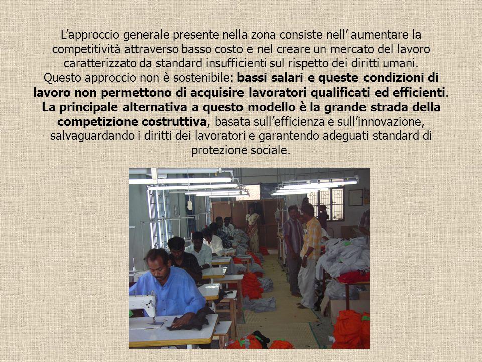 Lapproccio generale presente nella zona consiste nell aumentare la competitività attraverso basso costo e nel creare un mercato del lavoro caratterizz