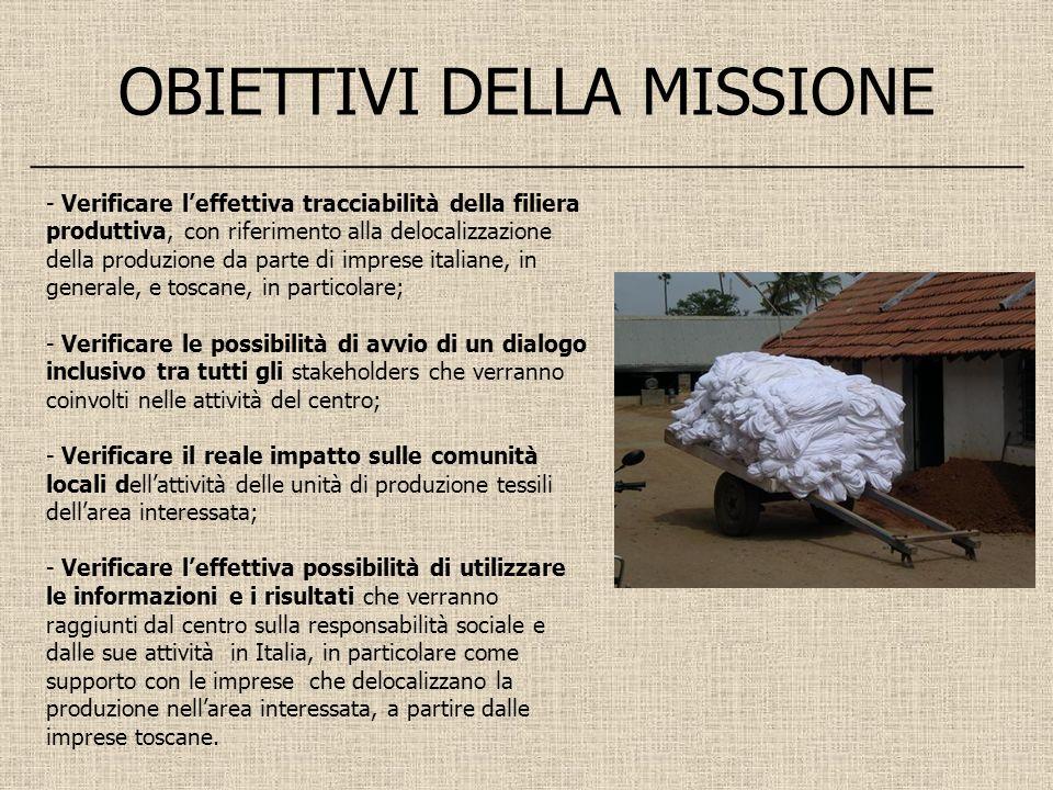 - Verificare leffettiva tracciabilità della filiera produttiva, con riferimento alla delocalizzazione della produzione da parte di imprese italiane, i