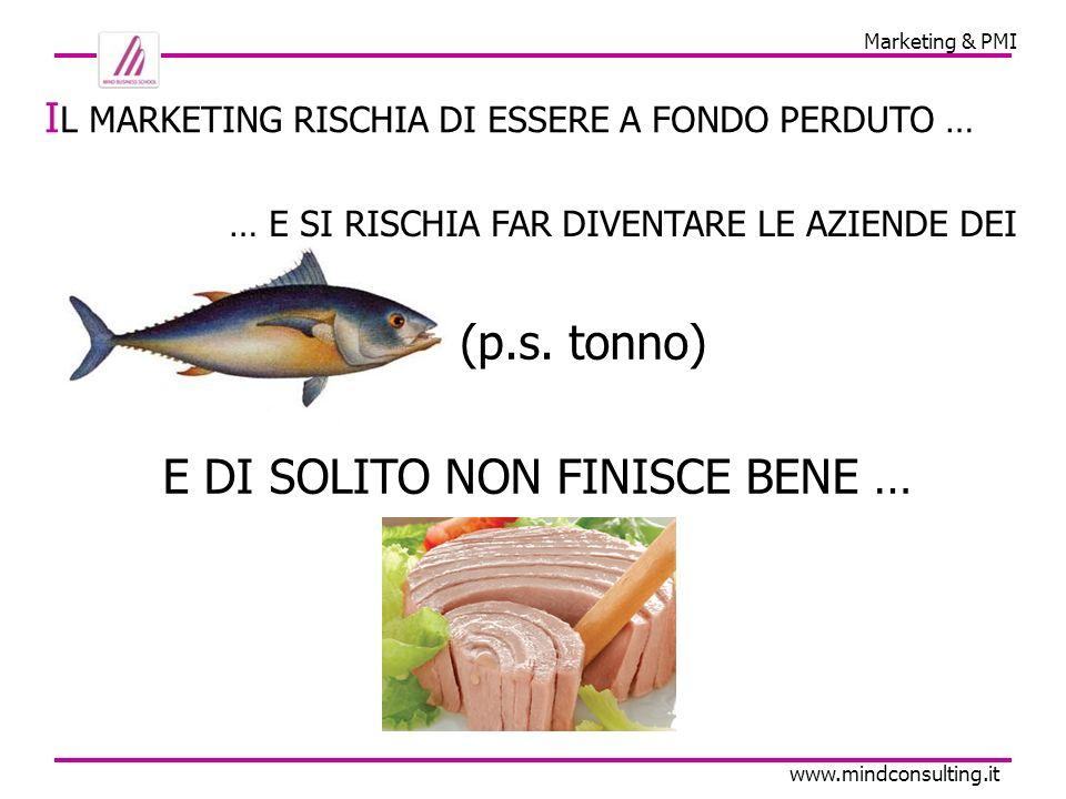 Marketing & PMI www.mindconsulting.it P ER INIZIARE, CON IL MARKETING VOI FATE … … VENDITA O PROMOZIONE?