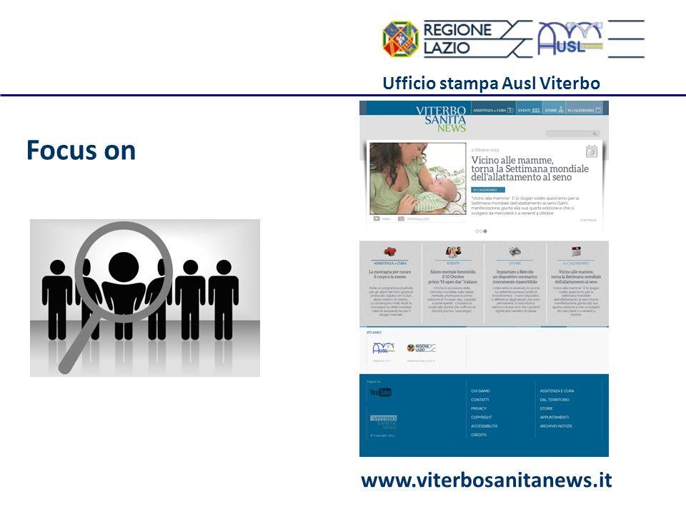 Ufficio stampa Ausl Viterbo Focus on www.viterbosanitanews.it
