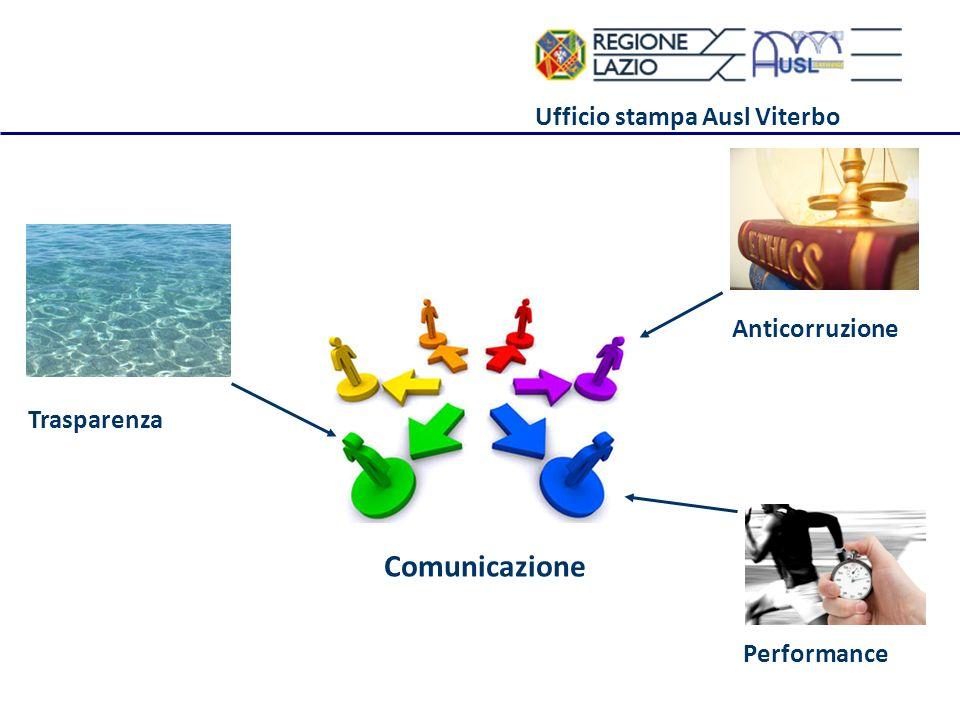 Ufficio stampa Ausl Viterbo Performance Anticorruzione Trasparenza Comunicazione