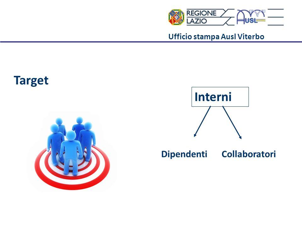 Ufficio stampa Ausl Viterbo Target Interni DipendentiCollaboratori
