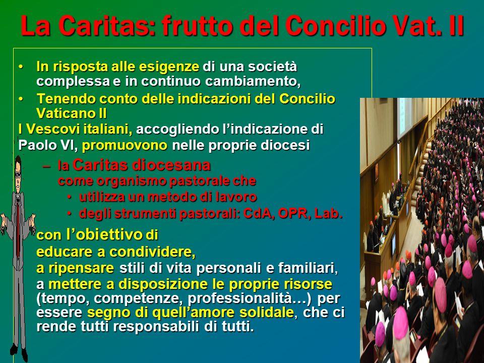 7 La Caritas: frutto del Concilio Vat.