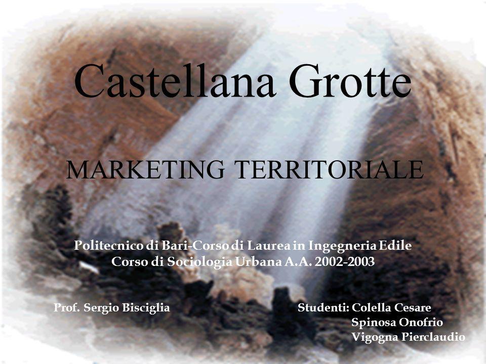 Castellana Grotte MARKETING TERRITORIALE Politecnico di Bari-Corso di Laurea in Ingegneria Edile Corso di Sociologia Urbana A.A. 2002-2003 Prof. Sergi