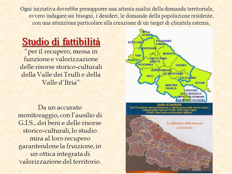 Studio di fattibilità Studio di fattibilitàper il recupero, messa in funzione e valorizzazione delle risorse storico-culturali della Valle dei Trulli