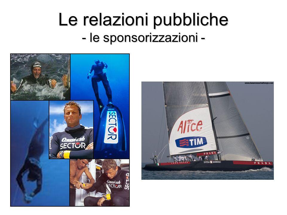 Le relazioni pubbliche - le sponsorizzazioni -