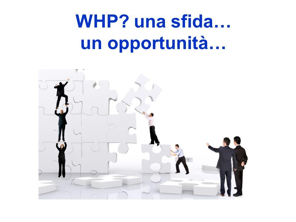 WHP? una sfida… un opportunità…
