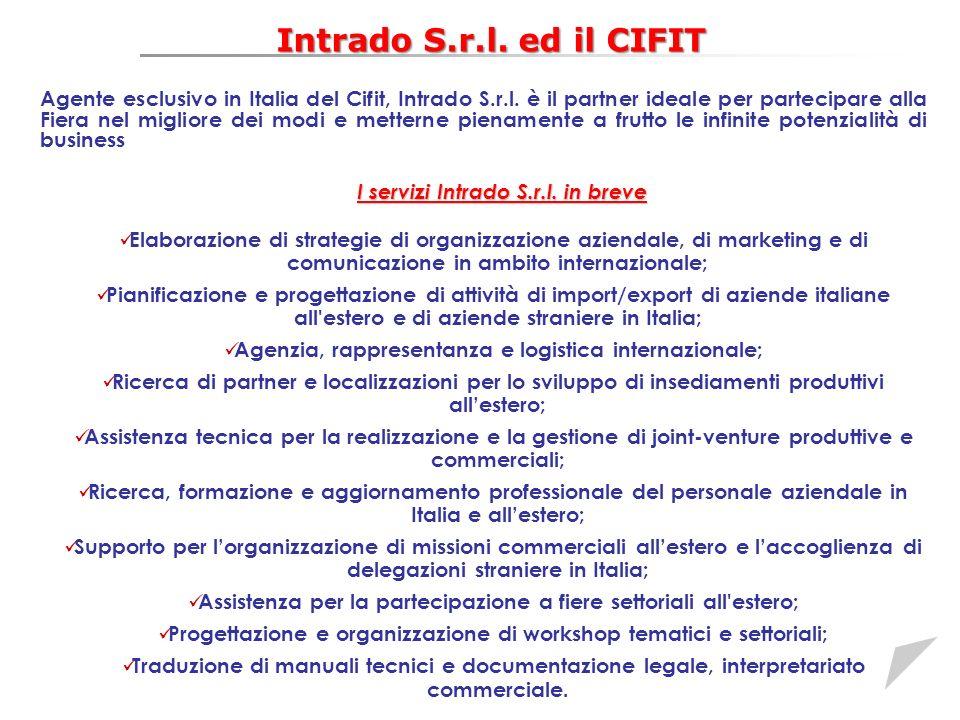 Intrado S.r.l. ed il CIFIT Agente esclusivo in Italia del Cifit, Intrado S.r.l.