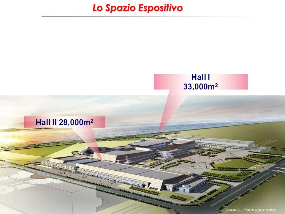 Hall I 33,000m 2 Hall II 28,000m 2 Lo Spazio Espositivo