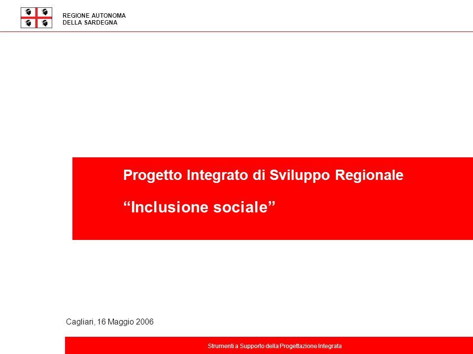 Titolo della presentazione REGIONE AUTONOMA DELLA SARDEGNA Progetto Integrato di Sviluppo Regionale Inclusione sociale Strumenti a Supporto della Prog