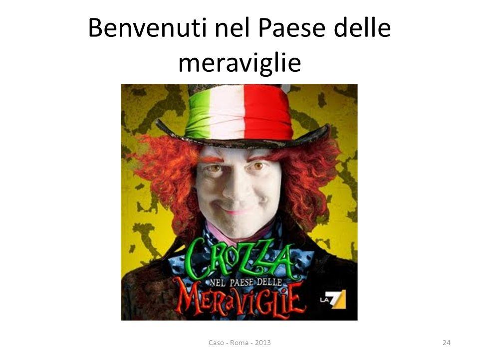 Benvenuti nel Paese delle meraviglie Caso - Roma - 201324