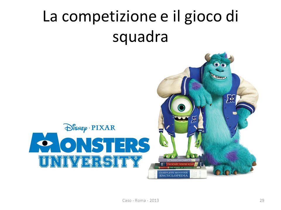 La competizione e il gioco di squadra Caso - Roma - 201329