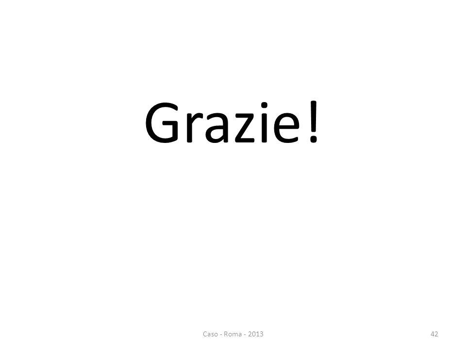 Grazie! 42Caso - Roma - 2013