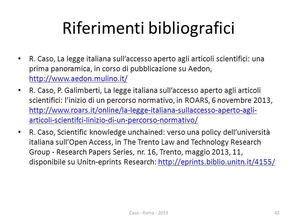 Riferimenti bibliografici R.
