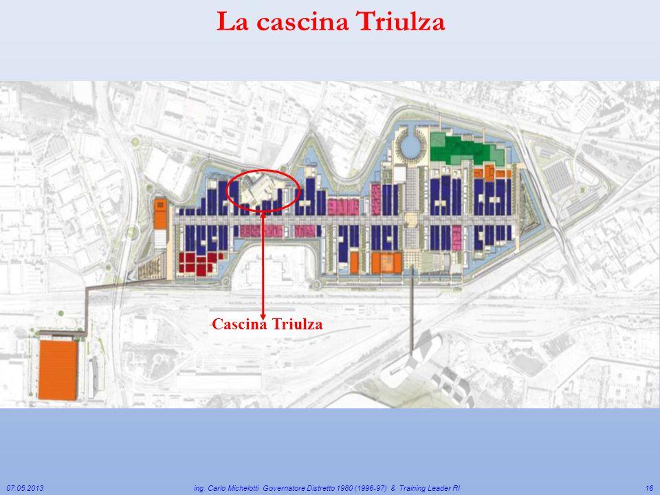 Cascina Triulza 07.05.2013 ing. Carlo Michelotti Governatore Distretto 1980 (1996-97) & Training Leader RI16 La cascina Triulza