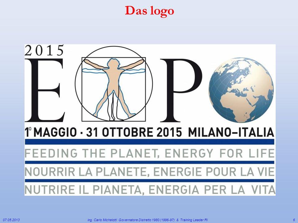 07.05.2013 ing. Carlo Michelotti Governatore Distretto 1980 (1996-97) & Training Leader RI6 Das logo