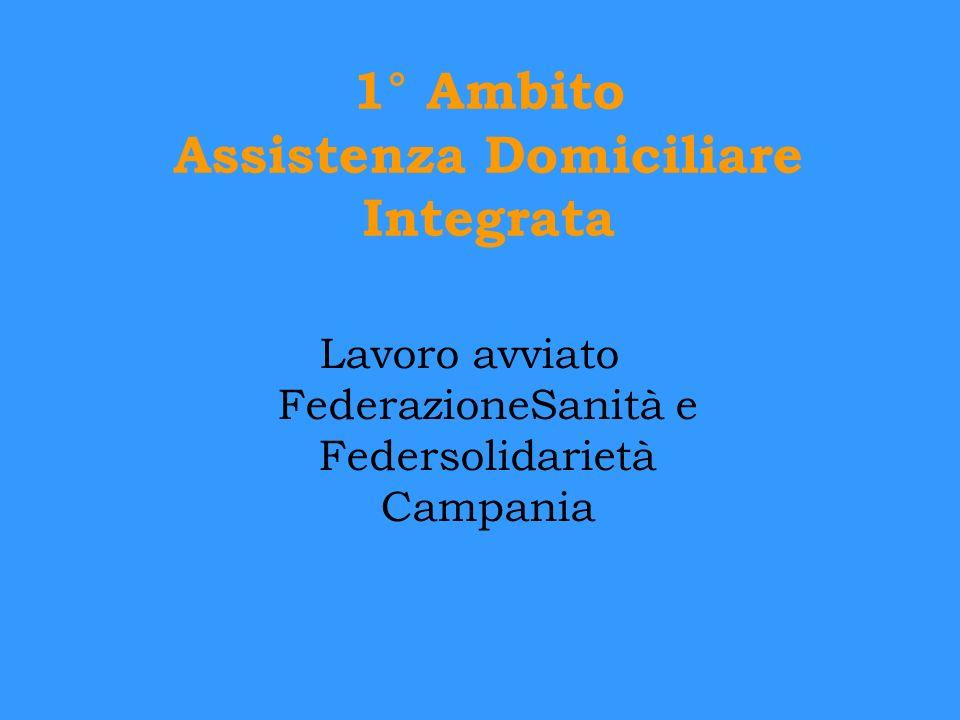 1° Ambito Assistenza Domiciliare Integrata Lavoro avviato FederazioneSanità e Federsolidarietà Campania