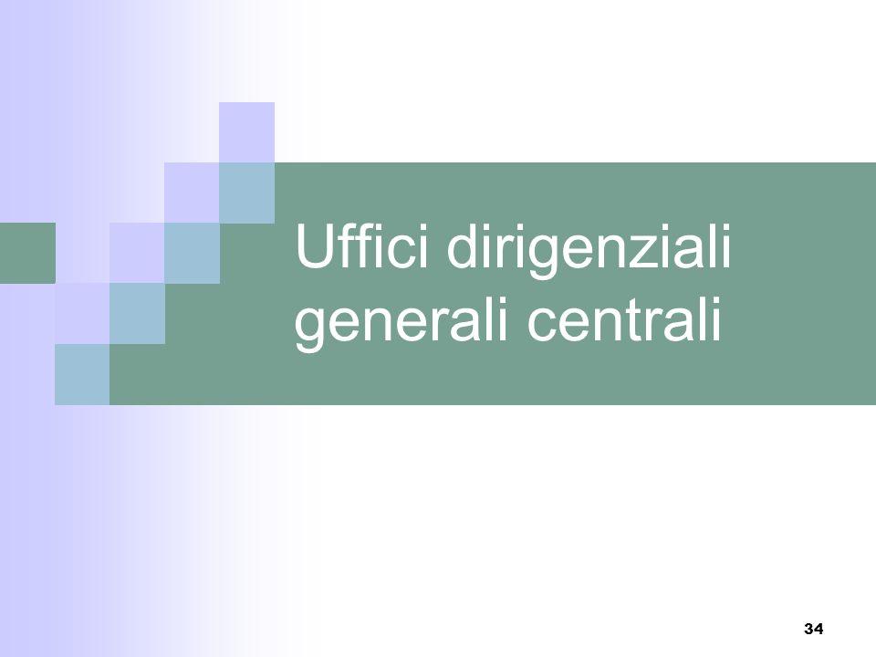 33 Il Segretariato Generale La riorganizzazione del 2004 aveva introdotto la struttura dipartimentale, con la riorganizzazione del 2006 si torna al pr