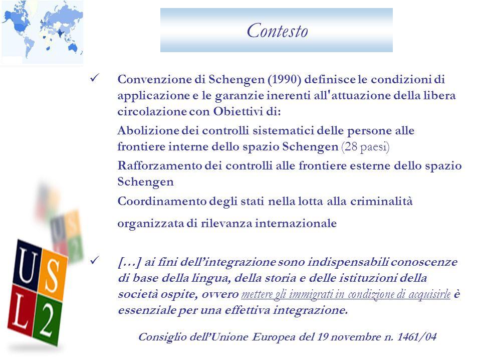 Contesto La Azienda Usl 2 dellUmbria ha condotto una ricerca a gennaio 2011 in collaborazione con la Questura della provincia di Perugia divisione Polizia Amministrativa, Sociale e dellImmigrazione – Ufficio Immigrazione sui flussi di immigrazione sul territorio.