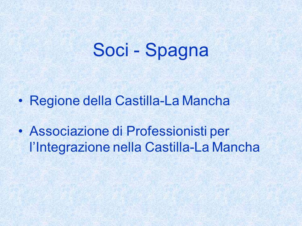 Soci - Spagna Regione della Castilla-La Mancha Associazione di Professionisti per lIntegrazione nella Castilla-La Mancha