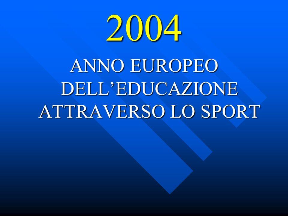 2004 ANNO EUROPEO DELLEDUCAZIONE ATTRAVERSO LO SPORT