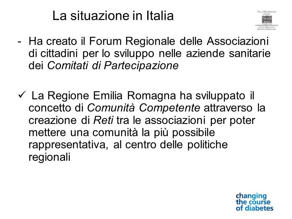 -Ha creato il Forum Regionale delle Associazioni di cittadini per lo sviluppo nelle aziende sanitarie dei Comitati di Partecipazione La Regione Emilia