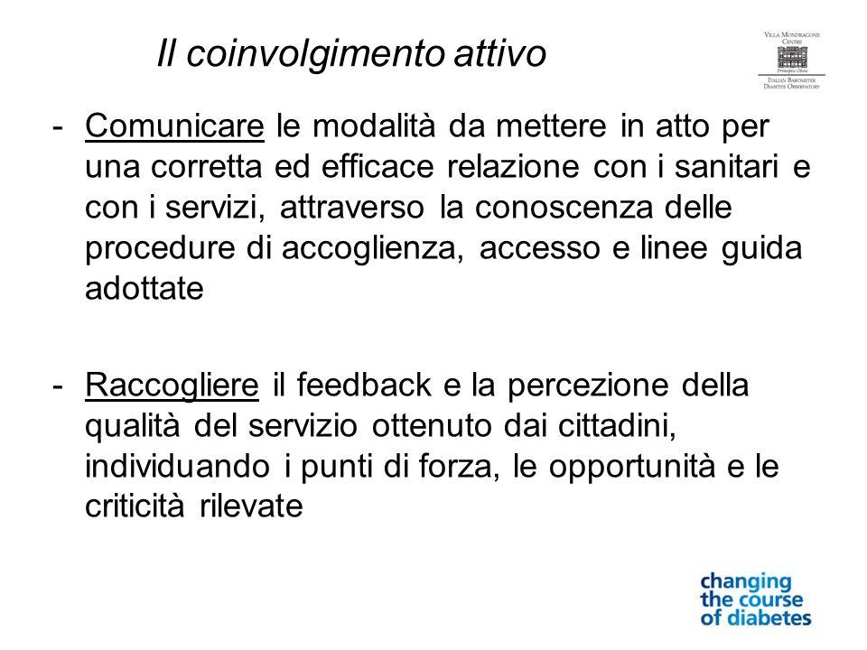 -Comunicare le modalità da mettere in atto per una corretta ed efficace relazione con i sanitari e con i servizi, attraverso la conoscenza delle proce
