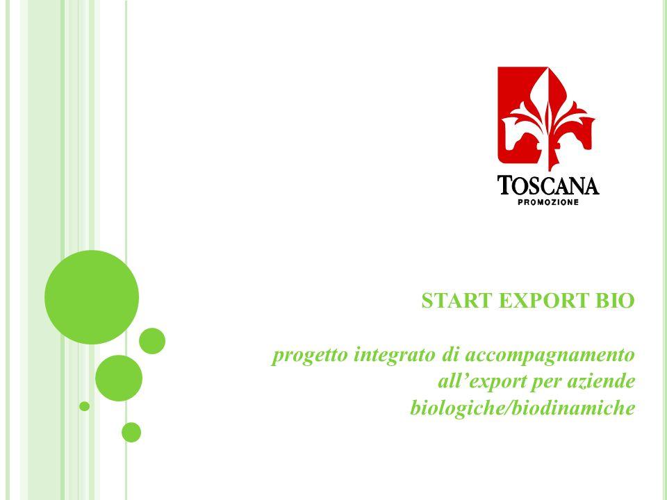 START EXPORT BIO progetto integrato di accompagnamento allexport per aziende biologiche/biodinamiche