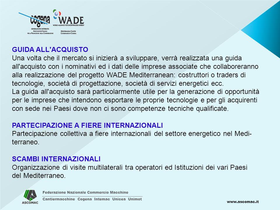 Federazione Nazionale Commercio Macchine Cantiermacchine Cogena Intemac Unicea Unimot www.ascomac.it GUIDA ALL'ACQUISTO Una volta che il mercato si in