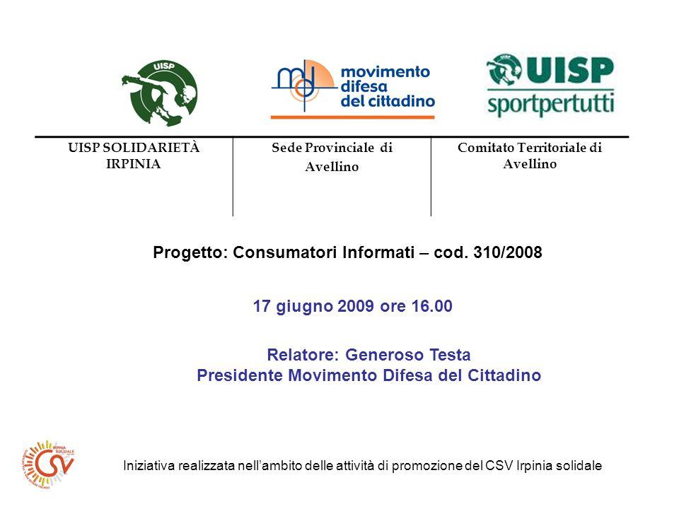 Progetto: Consumatori Informati – cod.