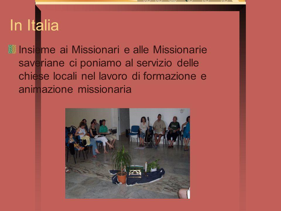 In Italia Insieme ai Missionari e alle Missionarie saveriane ci poniamo al servizio delle chiese locali nel lavoro di formazione e animazione missiona