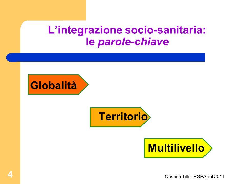 Lintegrazione socio-sanitaria: le parole-chiave Globalità Territorio Multilivello 4 Cristina Tilli - ESPAnet 2011