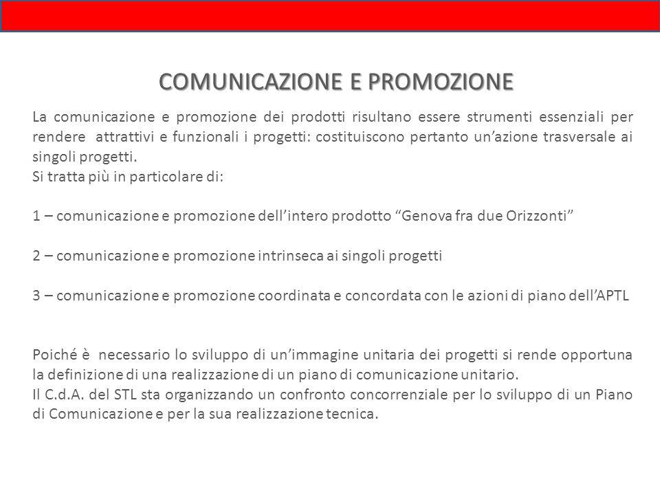 COMUNICAZIONE E PROMOZIONE La comunicazione e promozione dei prodotti risultano essere strumenti essenziali per rendere attrattivi e funzionali i prog