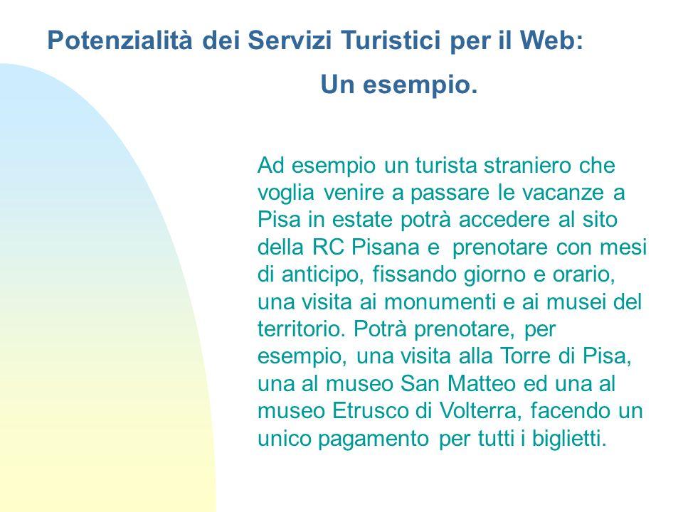 Ad esempio un turista straniero che voglia venire a passare le vacanze a Pisa in estate potrà accedere al sito della RC Pisana e prenotare con mesi di