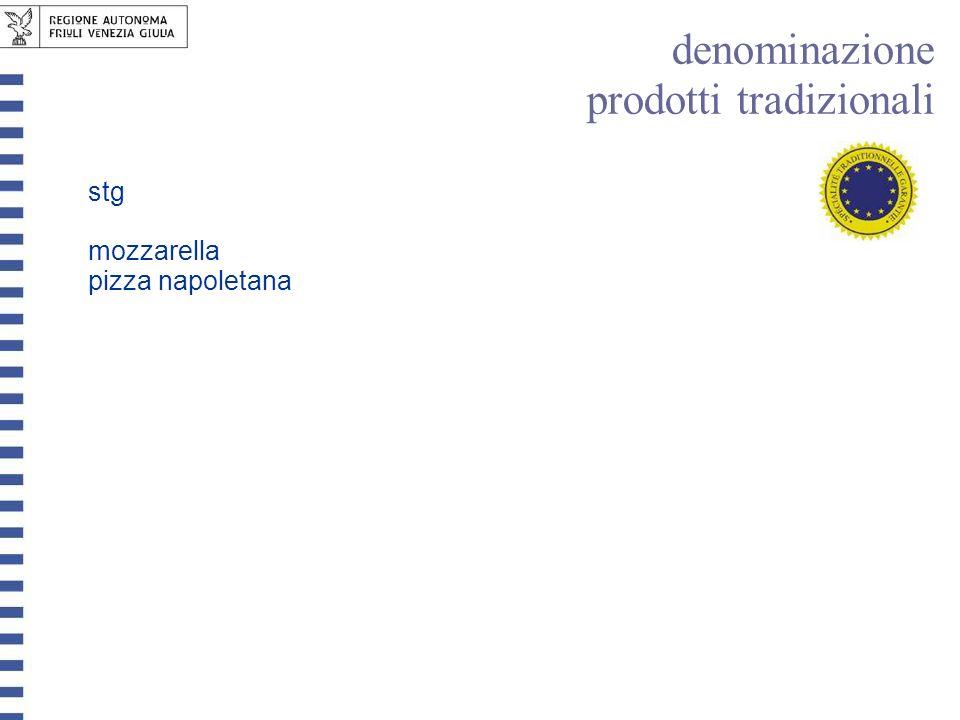 stg mozzarella pizza napoletana denominazione prodotti tradizionali