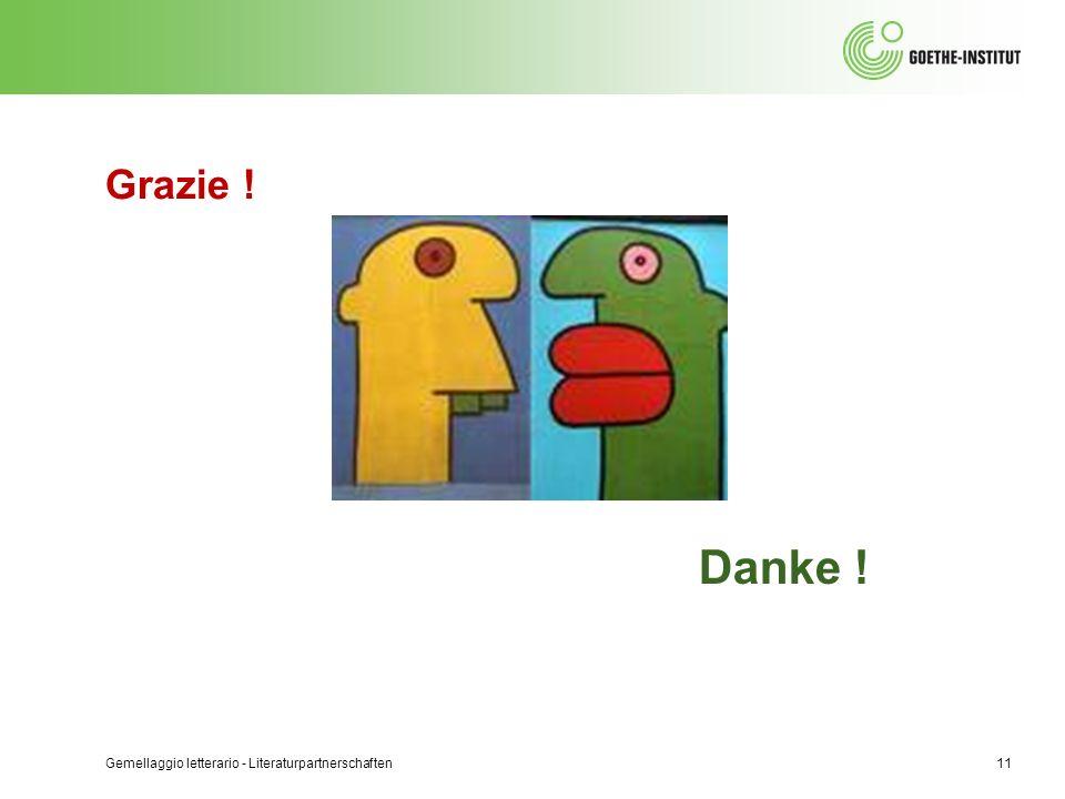 Grazie ! Gemellaggio letterario - Literaturpartnerschaften11 Danke !