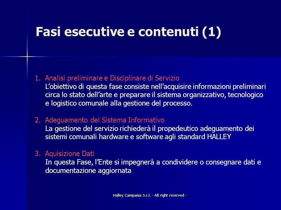 Halley Campania S.r.l.- All right reserved - Fasi esecutive e contenuti (2) 4.