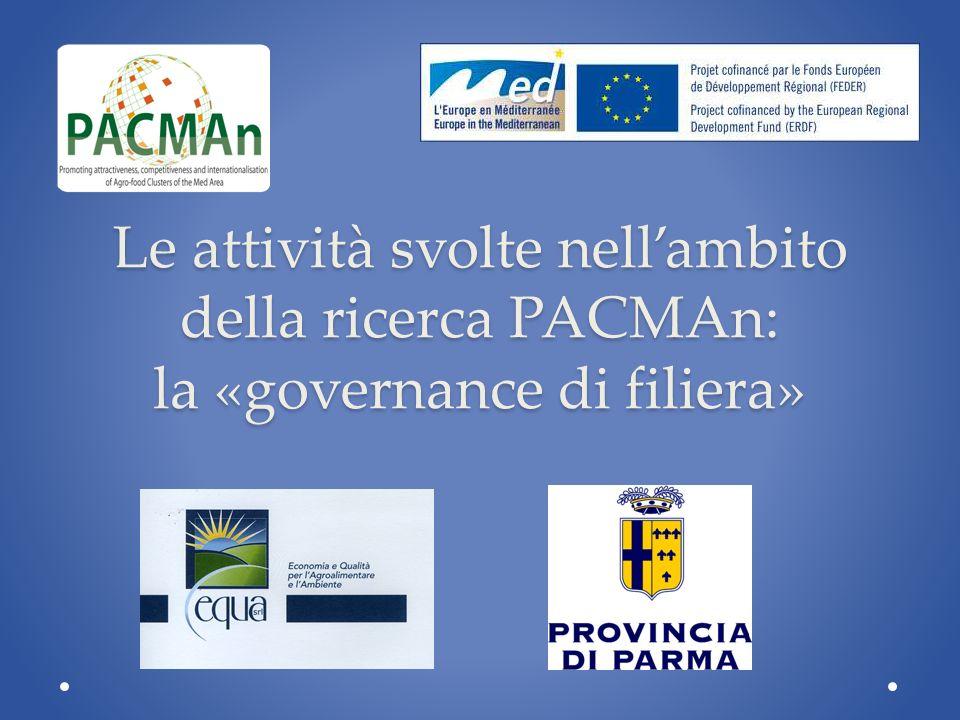 Le attività svolte nellambito della ricerca PACMAn: la «governance di filiera»