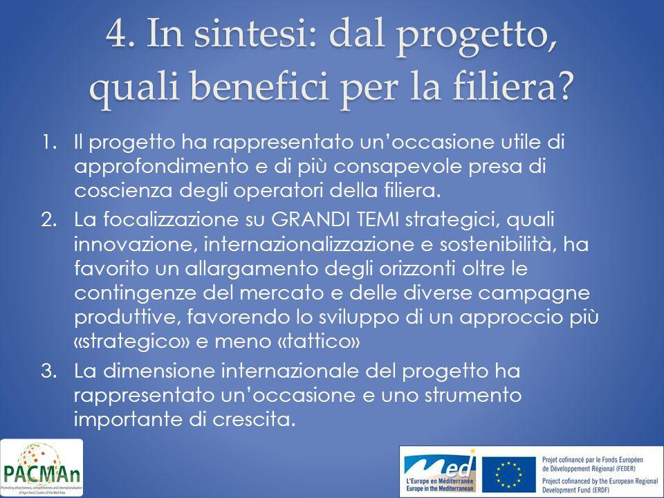 4. In sintesi: dal progetto, quali benefici per la filiera.