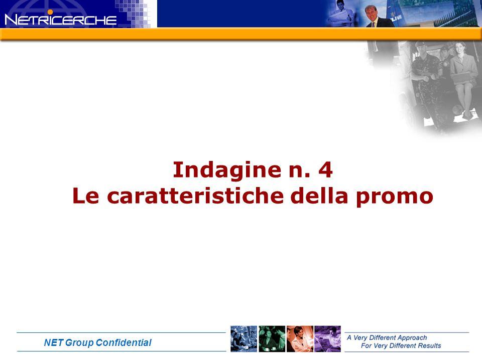 NET Group Confidential Indagine n. 4 Le caratteristiche della promo